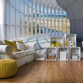 Fotobehang Beach 3D Modern Architecture View | V4 - 254cm x 184cm | 130gr/m2 Vlies