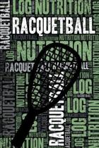 Racquetball Nutrition Log and Diary