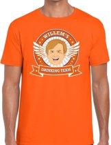 Oranje Koningsdag Willem drinking team t-shirt heren -  Koningsdag kleding 2XL