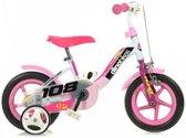 Dino Meisjesfiets - Kinderfiets - Meisjes - Roze;Wit - 10 Inch