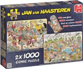 Jan van Haasteren Eet- en Bakfestijn 2 in 1 - Puzzel 2 x 1000 stukjes