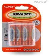 Vapex Oplaadbare AA Batterijen - 2900 mAh - 4 stuks