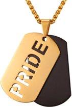 Mendes kettinghanger Pride Dogtag Goudkleurig