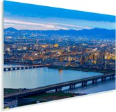 Stadsgezicht van Osaka in Japan tijdens de schemering Plexiglas 120x80 cm - Foto print op Glas (Plexiglas wanddecoratie)