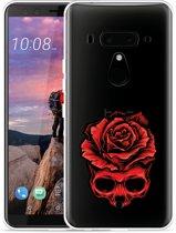 HTC U12 Plus Hoesje Red Skull