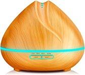 YONO Aroma Diffuser Luchtbevochtiger 400ml – Vernevelaar met LED Verlichting inclusief Etherische Olie - Geur Verspreider – Verstuiver – Verdamper – YLA410