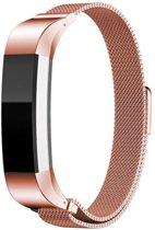Milanees Horloge Band Voor de Fitbit Alta (HR) - Metalen Milanese Watchband - Large / Small Armband RVS - Roze Goud Kleurig