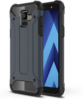 Armor Hybrid Hoesje Samsung Galaxy A6 (2018) - Donkerblauw