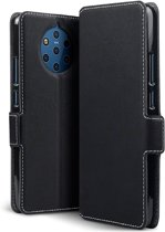Qubits - slim wallet hoes - Nokia 9 PureView - Zwart