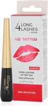 Long 4 Lashes lip tattoo - long lasting - lip tint 24 uur - peel-off formula - kleur red intuition
