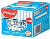 Krijtjes wit stofvrij - in doos x 100