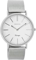 OOZOO Vintage C7395 - Horloge - Staal - Zilverkleurig - 36 mm