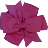 Jessidress Elastiekje Meisjes Haar elastiek met elegante strik - Fushia