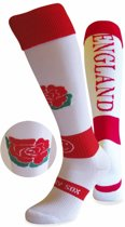 WackySox Engeland sokken Rood / Wit - 46-49