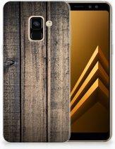 Uniek TPU Hoesje Steigerhout Samsung Galaxy A8 (2018)