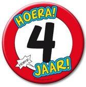 Paperdreams - XL Button - 4 jaar - Doorsnee 10 cm