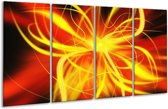 Glasschilderij Modern | Geel, Oranje, Bruin | 160x80cm 4Luik | Foto print op Glas |  F004873