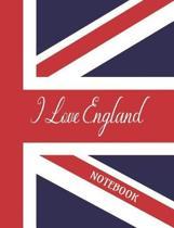 I Love England - Notebook