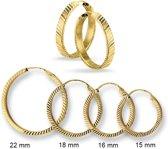 Huiscollectie 4001449 Gouden oorringen 3 mm gefaceteerd