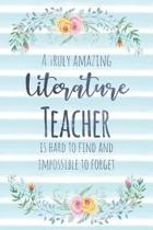 A Truly Amazing Literature Teacher Is Hard to Find and Impossible to Forget