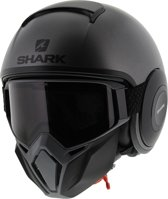 Shark Street Drak Neon Serie Mat Antraciet Zwart Zwart Akk Jethelm - Motorhelm - Maat L