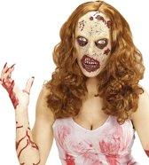 Zombie pruik met masker voor volwassenen Halloween - Verkleedmasker