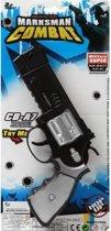Politie speelgoed pistool 35 cm - combat/militair speelgoed verkleed pistool