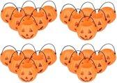 Halloween -  30x Halloween mini pompoen emmers 5 cm - Halloween decoratie/versiering/accessoires - Pompoen emmertjes