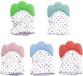 Bijthandschoen - Bijt - Speelgoed - Handschoen - Bijtring - Kraamcadeau - roze