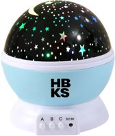 Sterrenhemel Verlichting Kinderkamer - Moon Light Projector - Nachtlampje kind | baby - nachtlamp - Snoezellamp - Spacelamp - Cadeau kind + Bijbehorende oplaadkabel! (licht blauw)