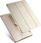 Apple iPad 2 / 3 / 4 - Luxe Champagne Goud Leren Hoesje Smart Cover - Book Case Retro  (Flip Cover) - Bescherming voor Voor- en Achterkant (Gold en Leer)