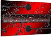 Canvas schilderij Modern | Rood, Zwart, Grijs | 140x90cm 1Luik