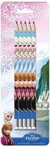 Disney Frozen potloden met gum - 5 stuks