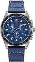 Swiss Military Hanowa 06-4225.04.003 horloge heren - blauw - edelstaal