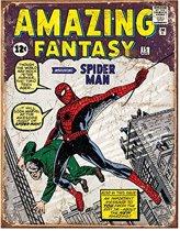 Spiderman Wandbord 'Cover' - Metaal - 30 x 40 cm