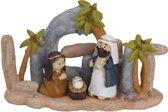 Kerststalletje met ledverlichting in keramiek