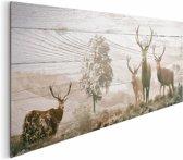 REINDERS Herten - Schilderij - 156x52cm