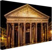 FotoCadeau.nl - Pantheon Rome in de nacht Canvas 30x20 cm - Foto print op Canvas schilderij (Wanddecoratie)