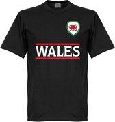 Wales Team T-Shirt - Zwart - S