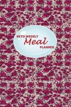 Keto Weekly Meal Planner: 52 weeks of Food Menu Planning with Grocery Shopping List, Recipe pages - Beautiful Roses Print