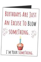 Birthdays Are Just An Excuse To Blow Something. I'm Your Something.: Funny Naughty Gag Gift Sarcastic Blank Lined Writing Journal (Alternative Card) F