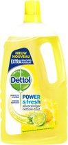 Dettol Power & Fresh - Allesreiniger - Sprankelende Citroen & Limoen - 1 liter