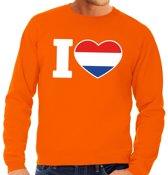 Oranje I love Holland sweater volwassenen M