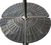 Homra parasoltegels - set van 4 parasoltegels - 4 x 12kg - Kunststof buitenkant gevuld met cement