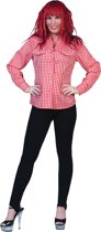 Rood-Wit Tiroler Hemd Vrouw   Maat 44-46   Bierfeest   Verkleedkleding
