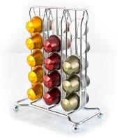 RVS Capsulehouder - 30 Capsules - Koffie Capsule Standaard - Cuphouder Dispenser - Cups Houder