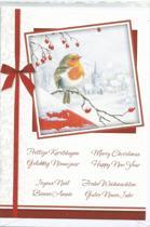 Kerstkaarten internationale tekst 10 stuks