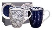 Tokyo Design Studio Le Bleu De Nîmes Mokken 380 ml inclusief dekseltjes / teatips - 4-delig - 2-persoons