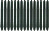 Zwarte Nylon Shafts 50 sets - lengte: Short