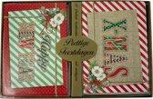 Kerstkaarten met nieuwjaars groet jute (5x10) 50 kaarten